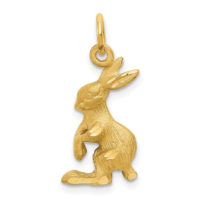 Quality Gold 14k Jack Rabbit Charm