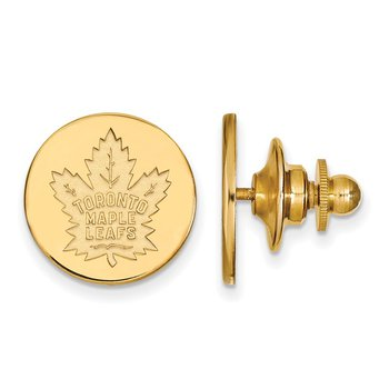 Gold-Plated Sterling Silver Toronto Maple Leafs NHL Lapel Pin