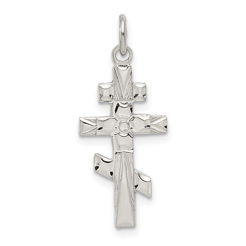 Quality Gold Sterling Silver Eastern Orthodox Cross Charm