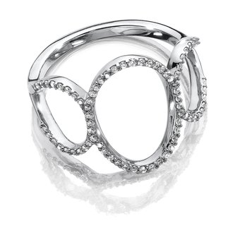 Open Oval Diamond Ring in 14K White Gold (1/4 ct. tw.)