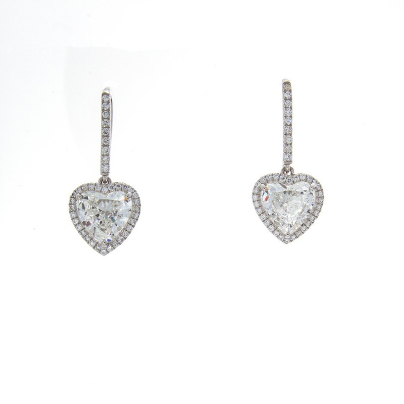 C&R Diamonds HEART SHAPE DIAMOND EARRINGS