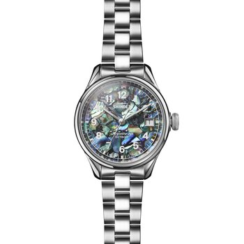 The Vinton 32mm Stainless Abalone Mosaic Dial Bracelet Watch