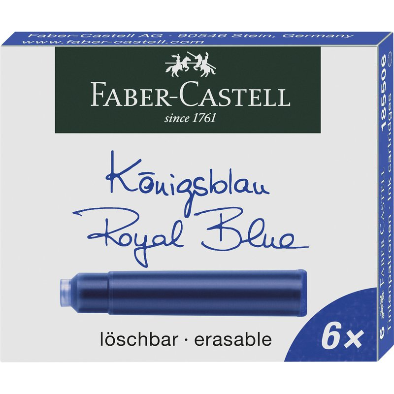 Faber-Castell Refills Faber Castell Design Royal Blue Ink Cart bx/6