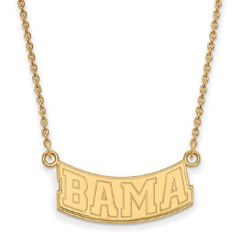 Gold-Plated Sterling Silver University of Alabama NCAA Necklace