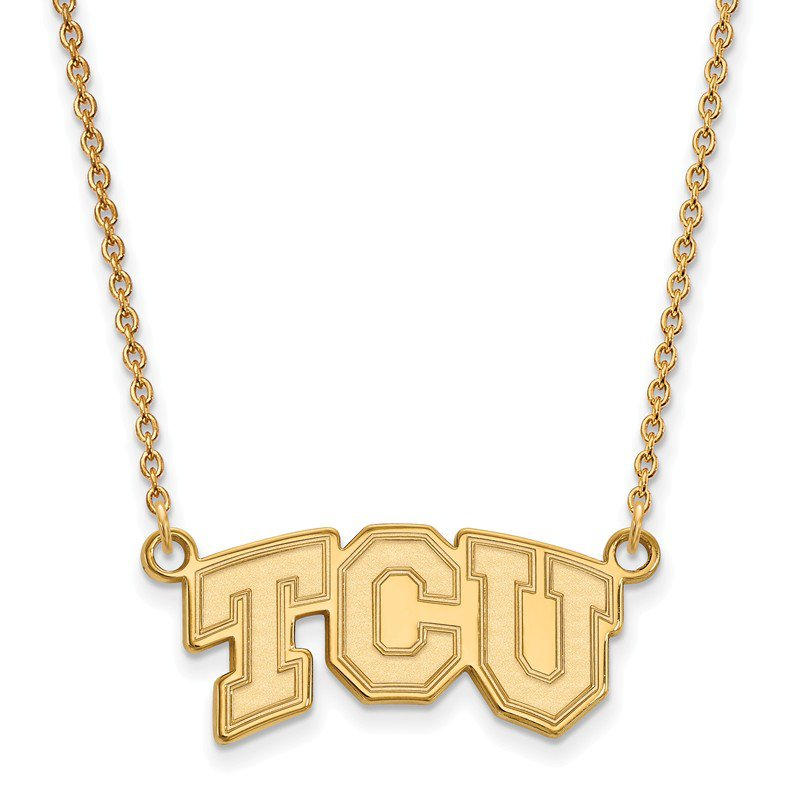 NCAA Gold-Plated Sterling Silver Texas Christian University NCAA Necklace