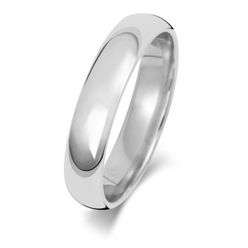 Platinum 4mm Traditional Court Wedding Ring