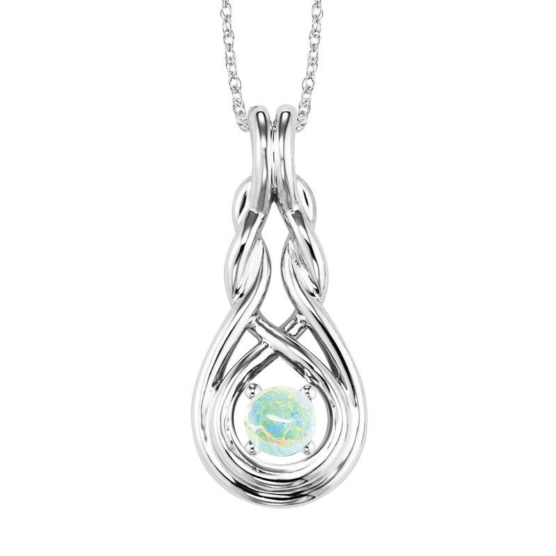 Mixables Silver Opal Pendant ( Available in All Birthstone )