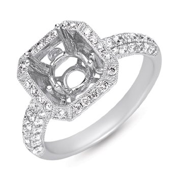 Platinum Engagement Ring Pave
