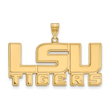 Gold Louisiana State University NCAA Pendant