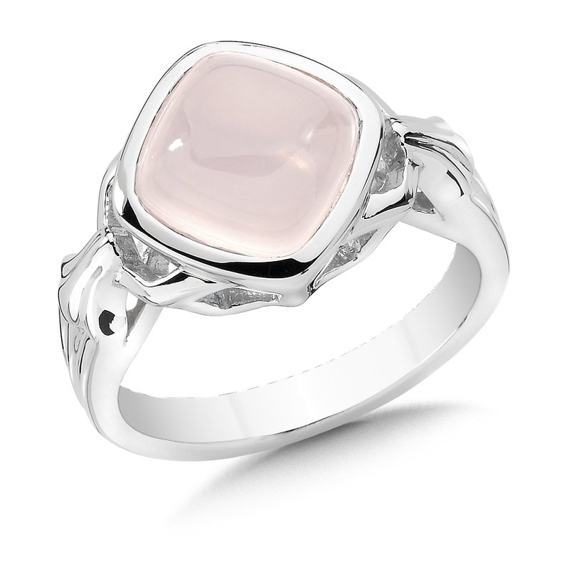 Colore Sg Sterling Silver and Rose Quartz Ring
