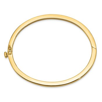14k 2.5mm Polished Solid Hinged Bangle