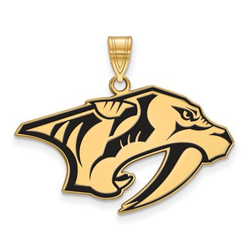 Gold-Plated Sterling Silver Nashville Predators NHL Pendant