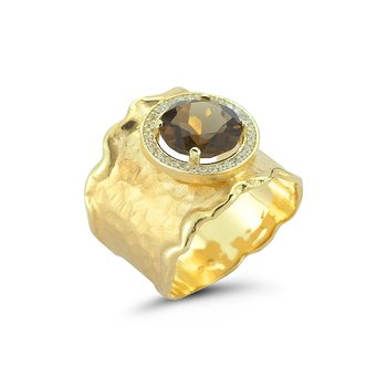 14K-Y S.P. GALLERY RING, 0.20CT