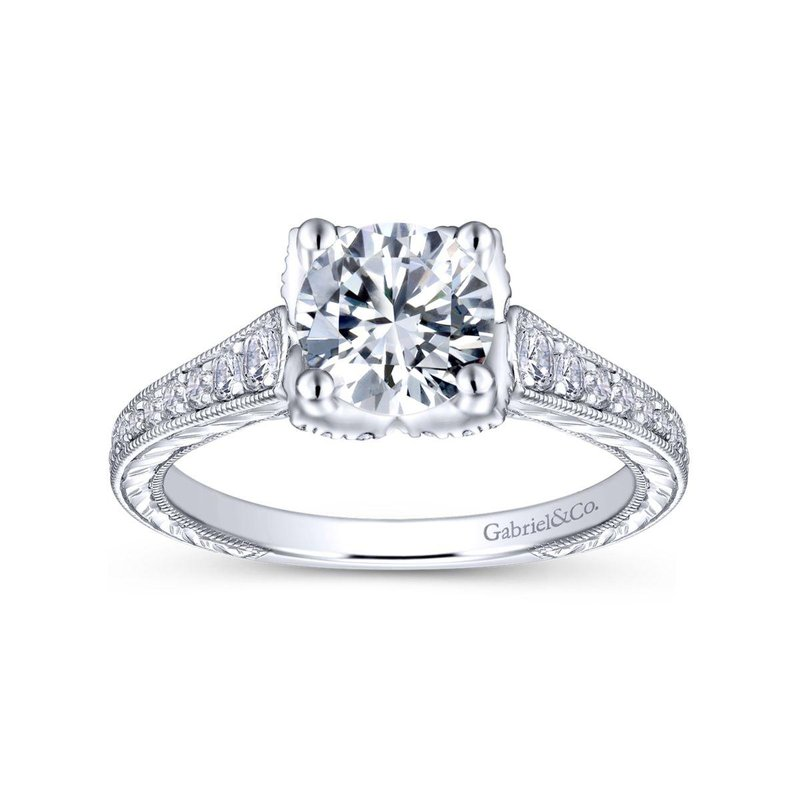 Gabriel & Co. Bridal 14K White Gold Round Diamond Engagement Ring