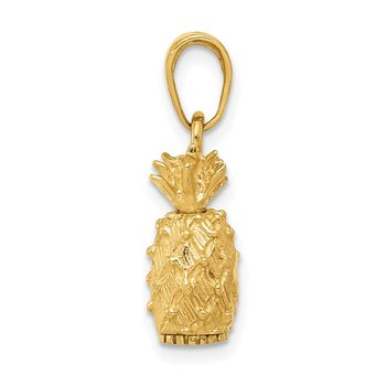 14k 3-D Pineapple Pendant