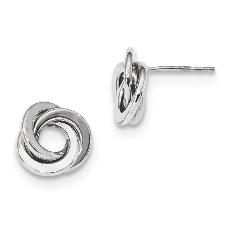 Quality Gold 14k White Gold Polished Love Knot Post Earrings