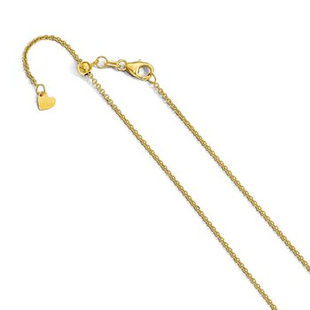 Leslie's 14K 1.4 mm Round Cable Adjustable Chain