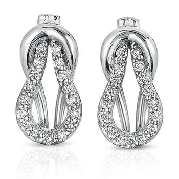 White Gold Love Knot Earring