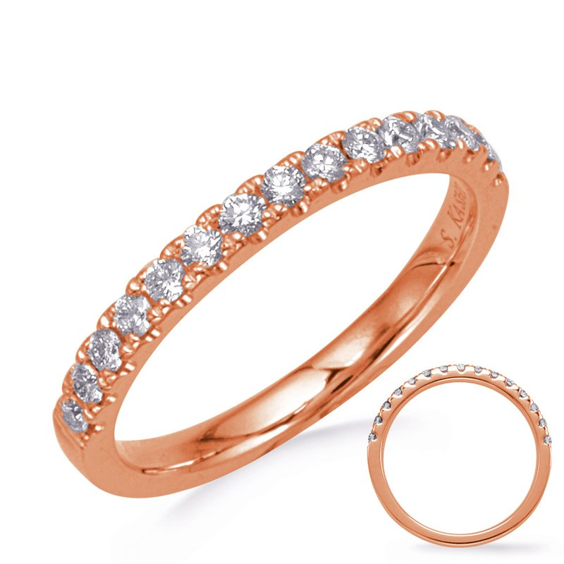 MAZZARESE Bridal Rose Gold Wedding Band