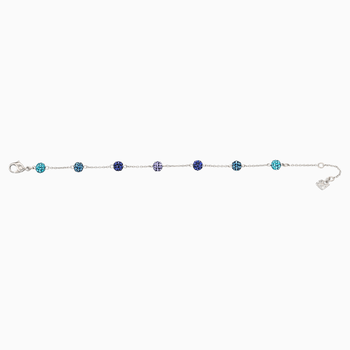 Blow Bracelet, Multi-colored, Rhodium plated