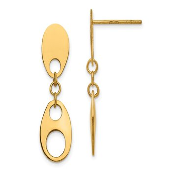 Leslie's 14K Polished Post Dangle Earrings