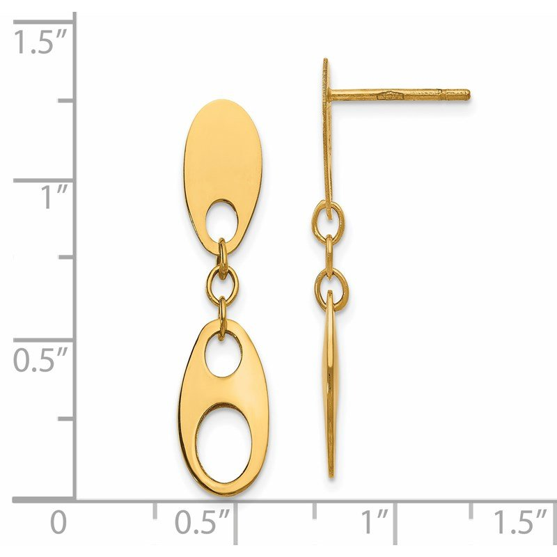 Leslie's Leslie's 14K Polished Post Dangle Earrings