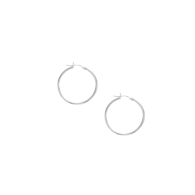 Royal Chain 10K Gold 1.5x25mm Hoop Earring
