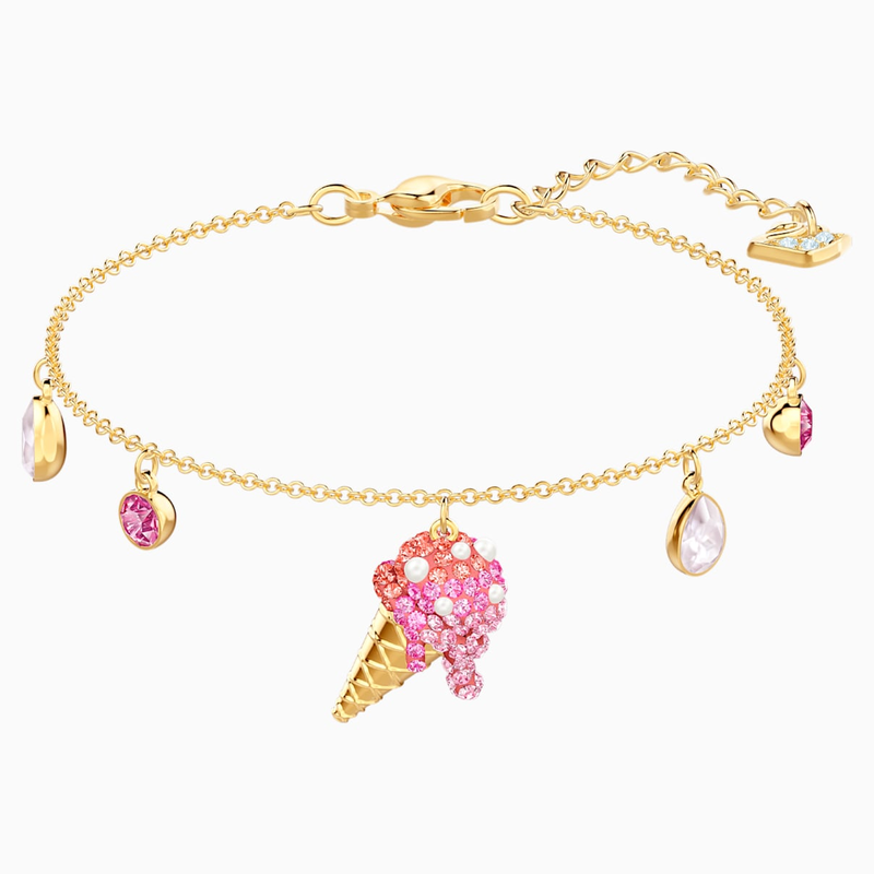 Swarovski No Regrets Ice Cream Bracelet, Multi-colored, Gold-tone plated