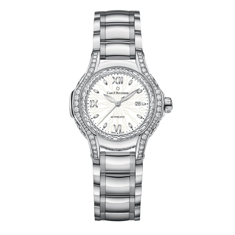 Carl F. Bucherer Pathos Diva 34mm Stainless and Diamond Womens Watch
