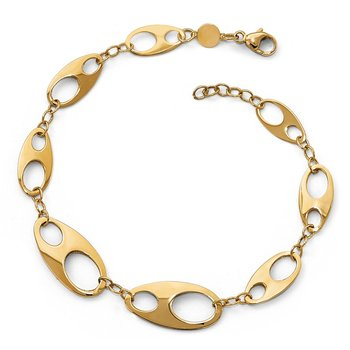 Leslie's 14K Polished w/.5in ext. Bracelet