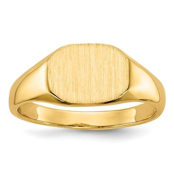 14k Signet Ring 9mmx6.5mm Open Back