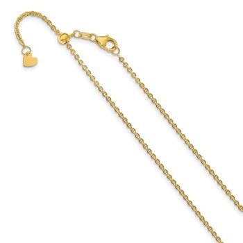 Leslie's 14K 1.7 mm Flat Cable Adjustable Chain