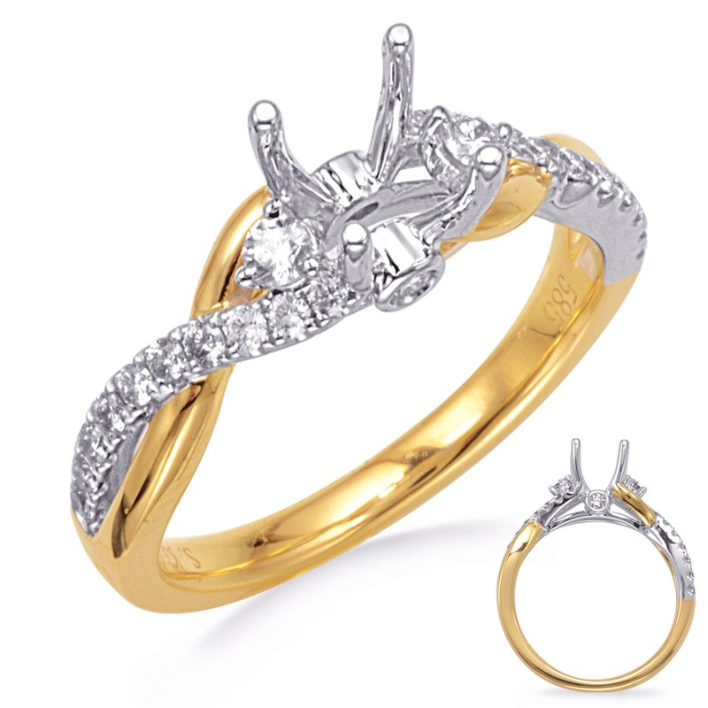 S. Kashi & Sons Bridal White & Yellow Gold Engagement Ring