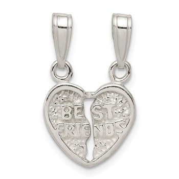 Sterling Silver Best Friends 2 piece Break apart