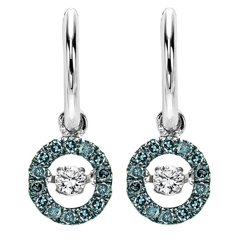 Rhythm of Love 14K Blue & White Diamond Rhythm Of Love Earrings 1/4 ctw
