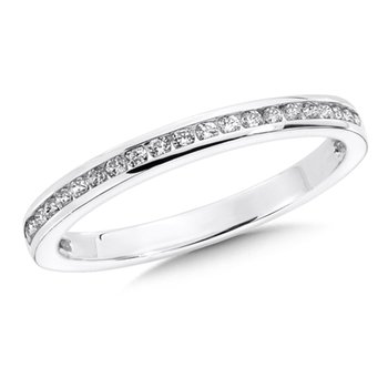 Channel set Diamond Wedding Band 14k White Gold (1/4ct. tw.)