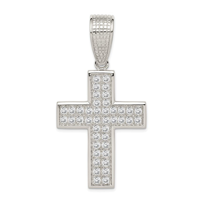 Lester Martin Online Collection Sterling Silver CZ Cross Pendant
