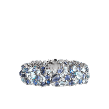 Bracelet With Topaz, Iolite, Sapphires And Diamonds