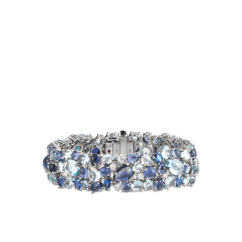 Roberto Coin Bracelet With Topaz, Iolite, Sapphires And Diamonds
