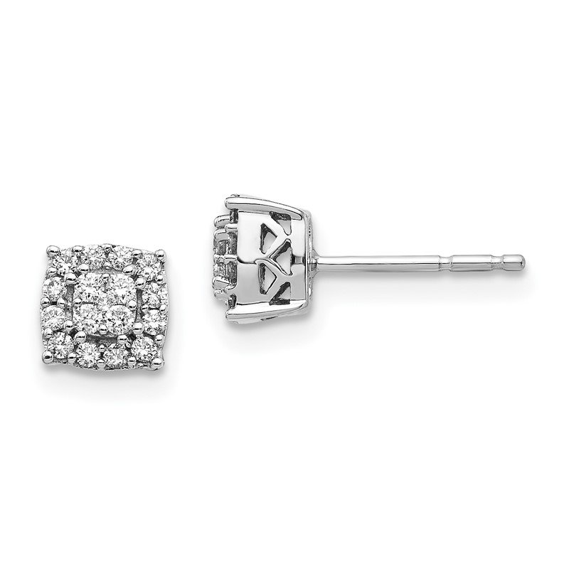 Fine Jewelry by JBD 14k White Gold Diamond Post Earrings