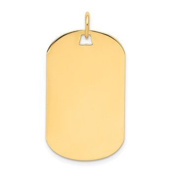 14k Plain .009 Gauge Engraveable Dog Tag Disc Charm
