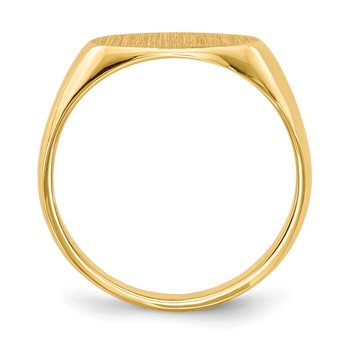 14k 11.0x6.5mm Closed Back Children's Signet Ring
