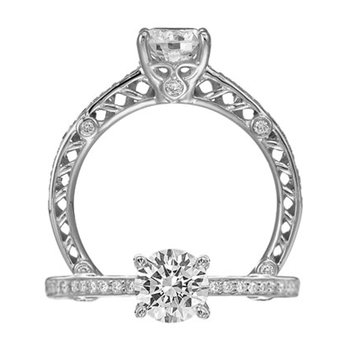 18k White Gold Ritani Engagement Ring