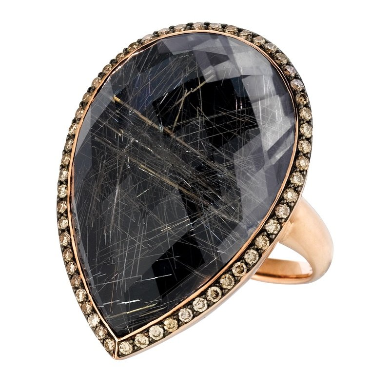 MAZZARESE Couture Angel Hair Rutilated Quartz Ring