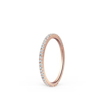 Simple Stackable Diamond Wedding Band