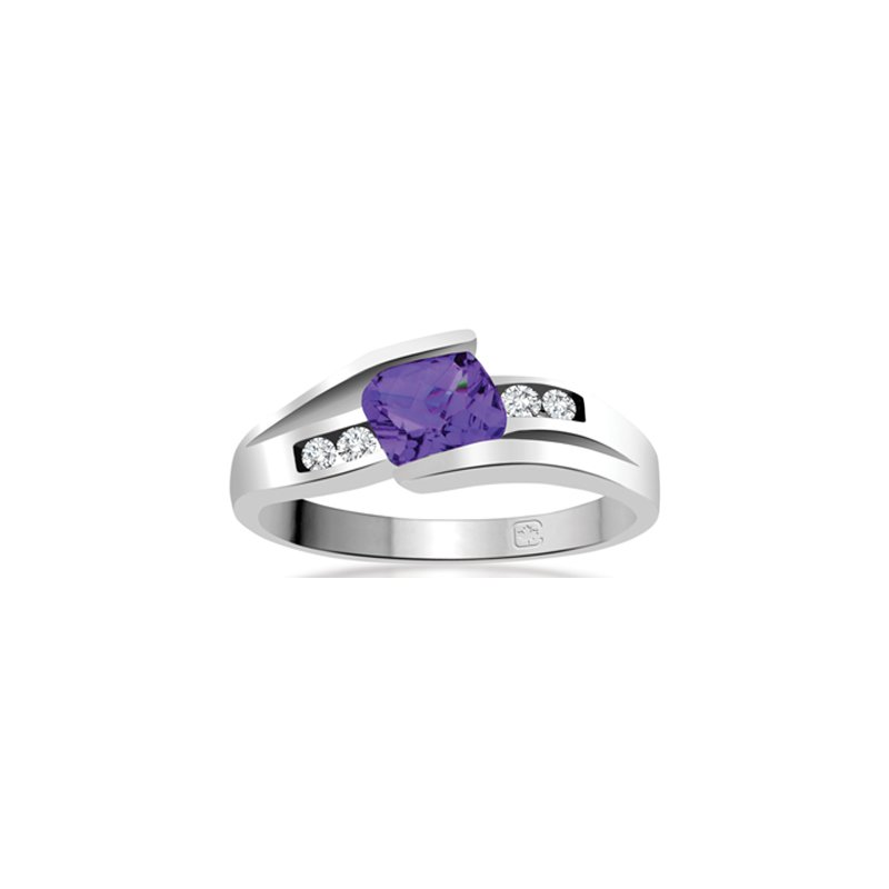 Diamond Wishes Amethyst Ladies Ring