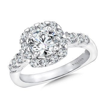 Unique Cushion-Shaped Halo Diamond Engagement Ring
