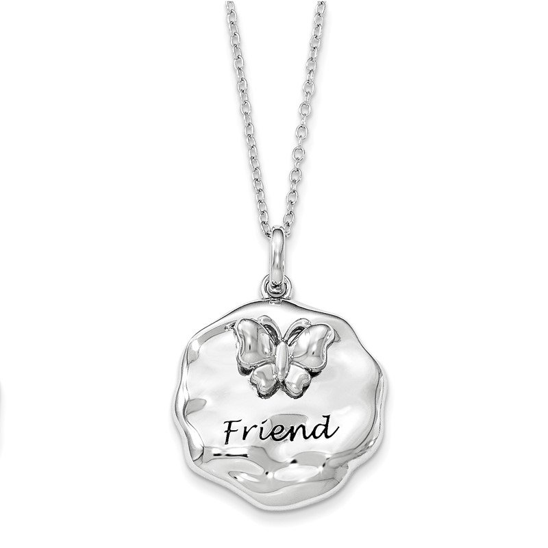 J.F. Kruse Signature Collection Sterling Silver Antiqued My Friend 18in. Necklace