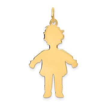 14k Plain Polished Large Boy Charm