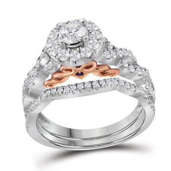 1CTW-DIA 1/3CT-CRD BRIDAL SET